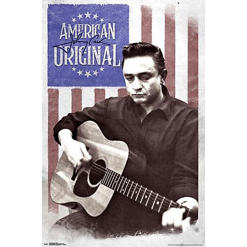 Trends International Johnny Cash Flag Poster Rolled Unframed