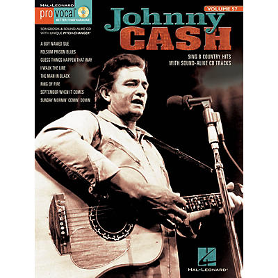 Hal Leonard Johnny Cash (Pro Vocal Men's Edition Volume 57) Pro Vocal Series Softcover with CD
