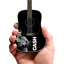 Axe Heaven Johnny Cash Signature Black Mini Acoustic Guitar Tribute Model - Middle Finger