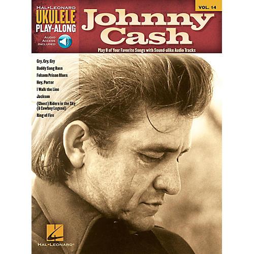 Hal Leonard Johnny Cash Ukulele Play-Along Volume 14 Book/CD