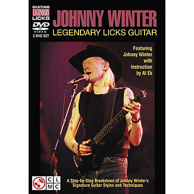 Cherry Lane Johnny Winter Legendary Licks Guitar DVD (Featuring Johnny Winter)