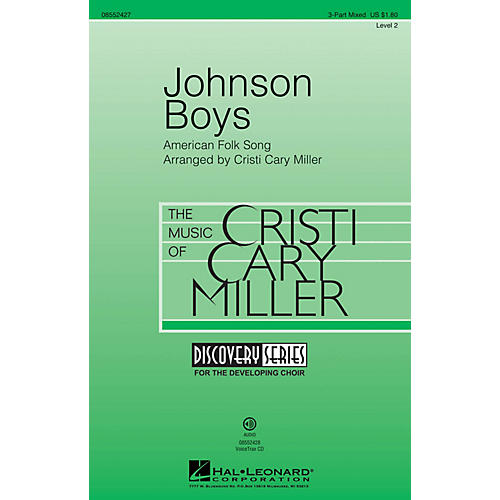 Hal Leonard Johnson Boys (Discovery Level 2) 3-Part Mixed arranged by Cristi Cary Miller