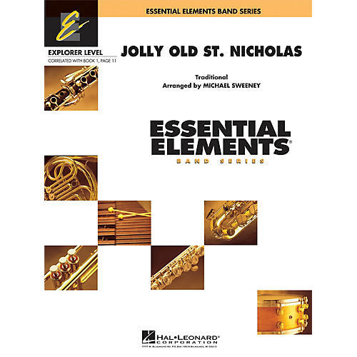 Hal Leonard Jolly Old St. Nicholas Concert Band Level 0.5 Arranged by Michael Sweeney