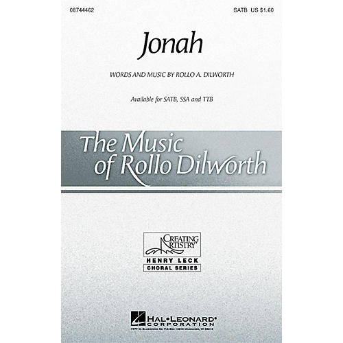Hal Leonard Jonah SATB composed by Rollo Dilworth