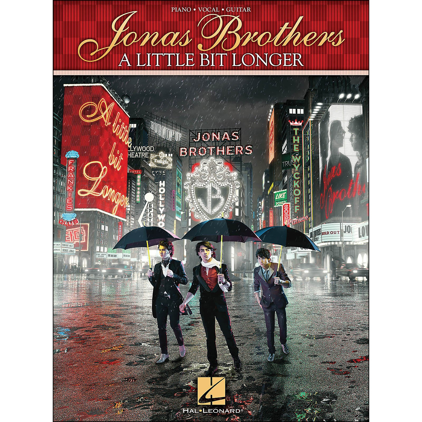 Hal Leonard Jonas Brothers - A Little Bit Longer arranged for piano, vocal, and guitar (P/V/G)