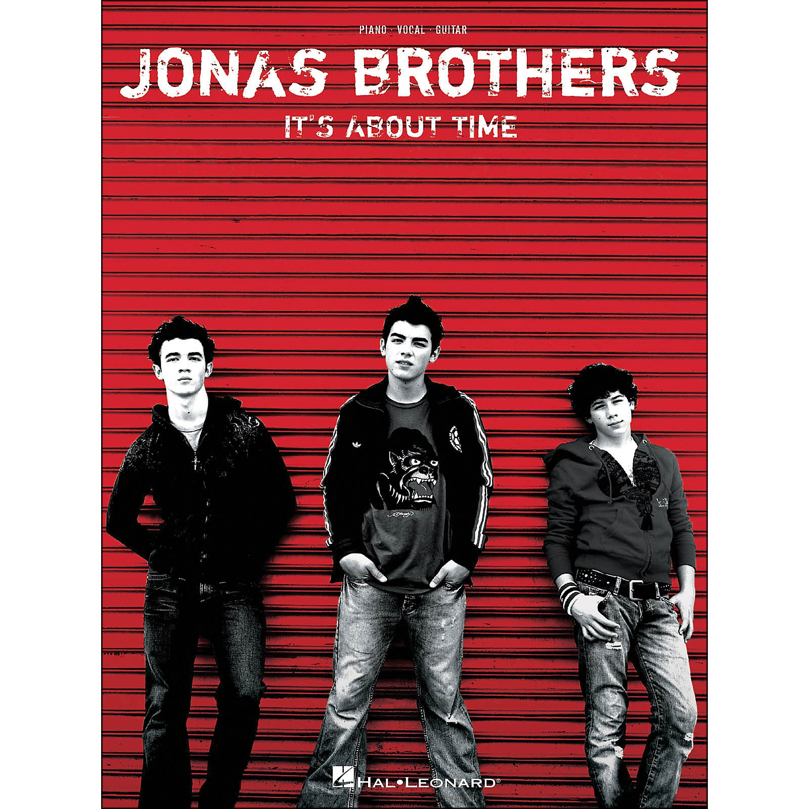 Hal Leonard Jonas Brothers It's About Time arranged for piano, vocal, and guitar (P/V/G)