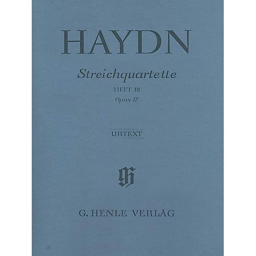 G. Henle Verlag Joseph Haydn - String Quartets Volume III, Op. 17 Henle Music Folios Series Softcover by Joseph Haydn