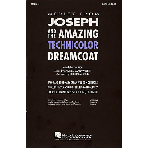 Hal Leonard Joseph and the Amazing Technicolor Dreamcoat (Medley) 2-Part Arranged by Roger Emerson