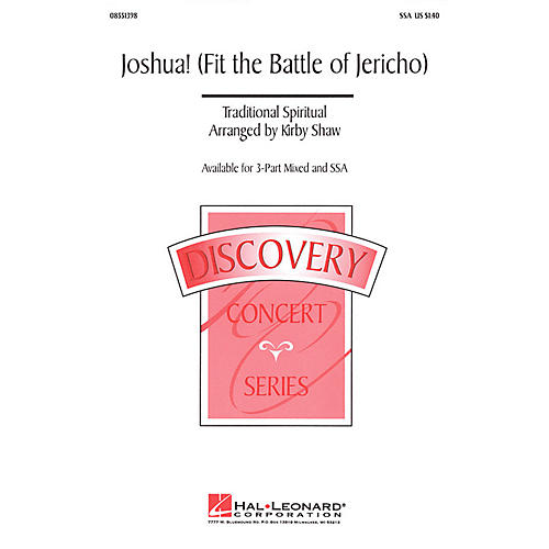 Hal Leonard Joshua! (Fit the Battle of Jericho) 3-Part Mixed Arranged by Kirby Shaw