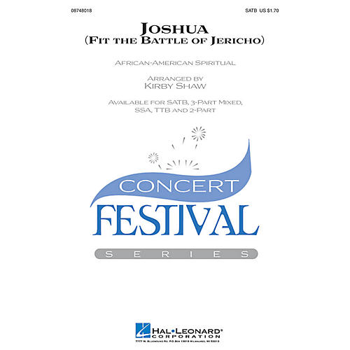 Hal Leonard Joshua! (Fit the Battle of Jericho) SATB arranged by Kirby Shaw