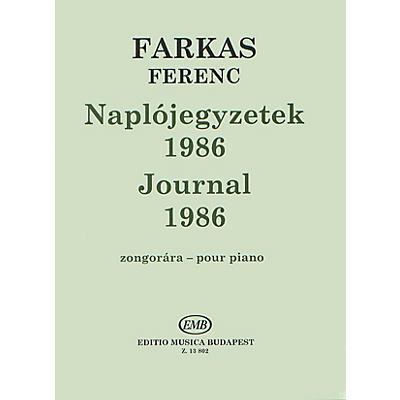 Editio Musica Budapest Journal 1986 EMB Series