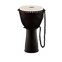 Journey Series Rope Tuned Fiberglass Goatskin Head Djembe Black 12 in.