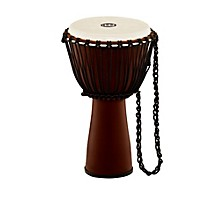 Journey Series Rope Tuned Fiberglass Goatskin Head Djembe Earth Brown 10 in.