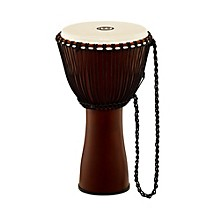 Journey Series Rope Tuned Fiberglass Goatskin Head Djembe Earth Brown 12 in.