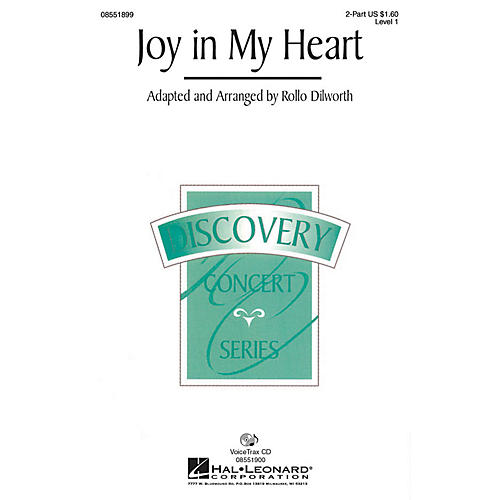 Hal Leonard Joy in My Heart 2-Part arranged by Rollo Dilworth