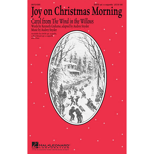 Hal Leonard Joy on Christmas Morning (Carol from The Wind in the Willows) 2-Part Composed by Audrey Snyder