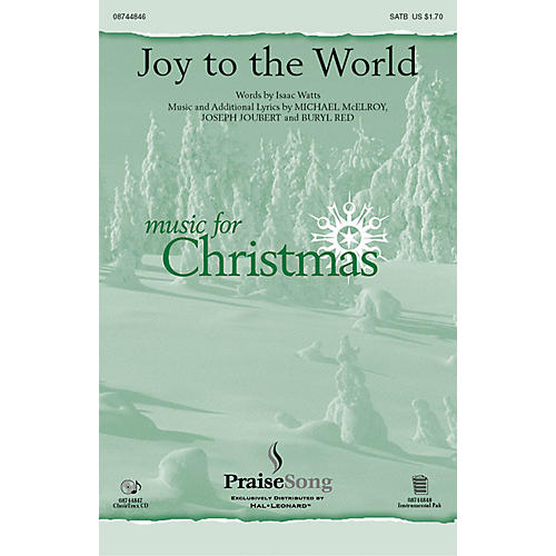 PraiseSong Joy to the World CHOIRTRAX CD Composed by Buryl Red