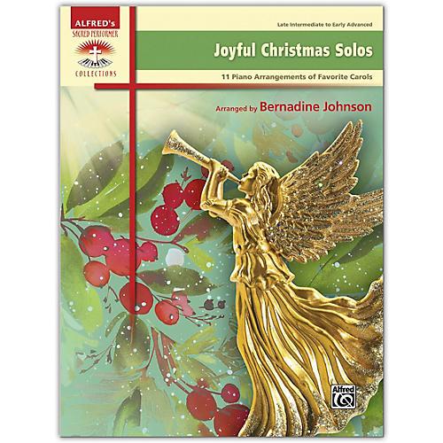 Alfred Joyful Christmas Solos Book Late Intermediate / Early Advanced