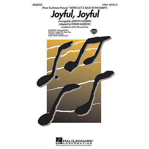 Hal Leonard Joyful, Joyful (from Sister Act 2) Combo Parts Arranged by Roger Emerson