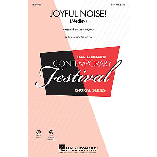 Hal Leonard Joyful Noise (Medley) SSA arranged by Mark Brymer