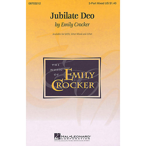 Hal Leonard Jubilate Deo 2-Part composed by Emily Crocker