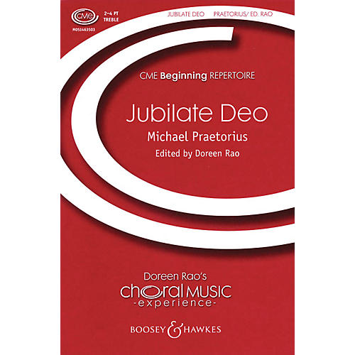 Boosey and Hawkes Jubilate Deo (CME Beginning) composed by Michael Praetorius arranged by Doreen Rao