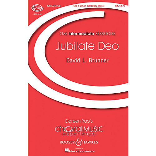 Boosey and Hawkes Jubilate Deo (CME Building Bridges) SAB composed by David Brunner