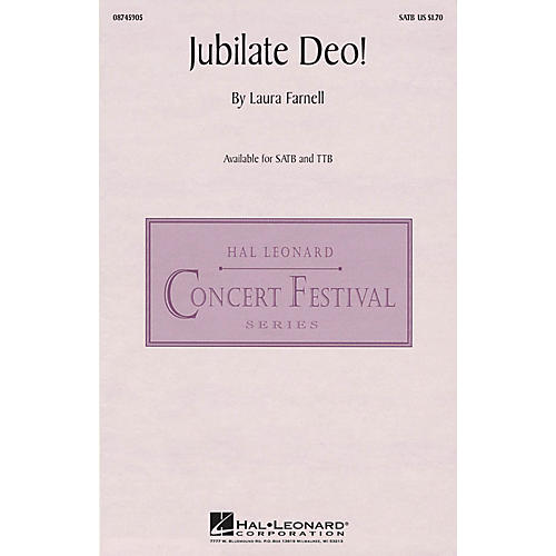 Hal Leonard Jubilate Deo! TTB Composed by Laura Farnell