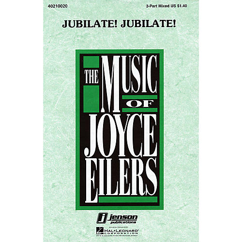 Hal Leonard Jubilate! Jubilate! 3-Part Mixed a cappella arranged by Joyce Eilers