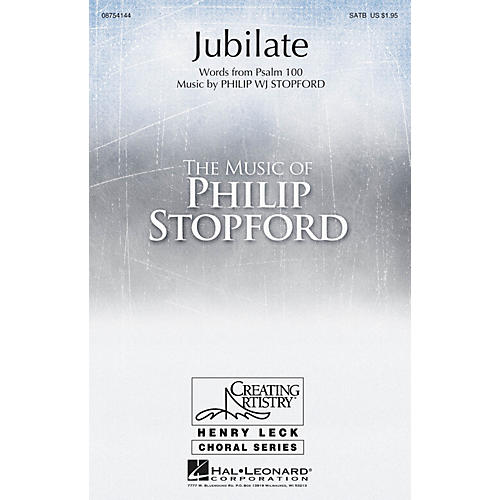 Hal Leonard Jubilate SATB composed by Philip Stopford