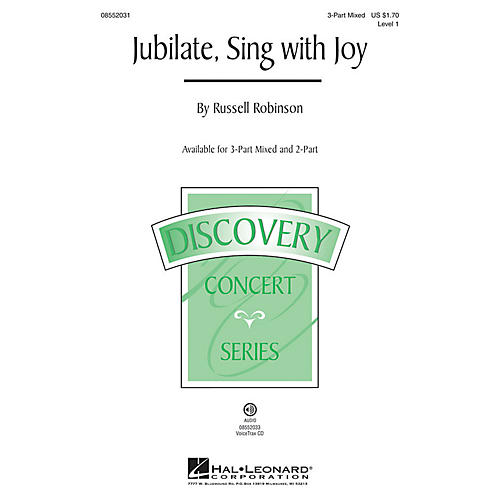 Hal Leonard Jubilate, Sing with Joy (Discovery Level 1) VoiceTrax CD Composed by Russell Robinson