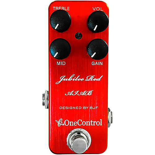 One Control Jubilee Red Distortion Effects Pedal