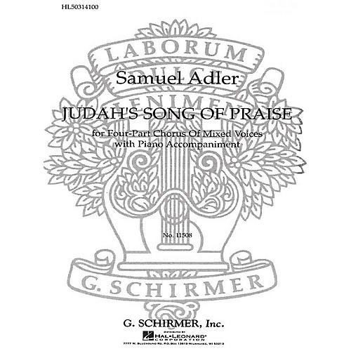G. Schirmer Judah's Song of Praise SATB composed by Samuel Adler