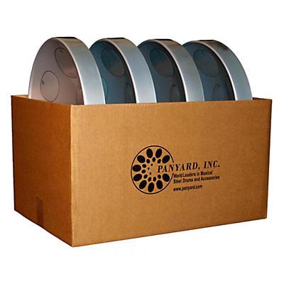 Panyard Jumbie Jam Educator's Steel Drum 4-Pack with Floor Stands
