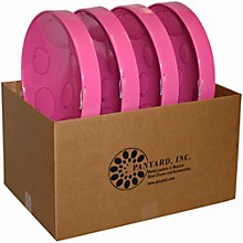 Jumbie Jam Educator's Steel Drum 4-Pack with Table Top Stands Pink