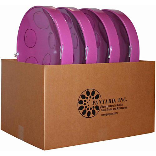 Panyard Jumbie Jam Educator's Steel Drum 4-Pack with Table Top Stands Purple