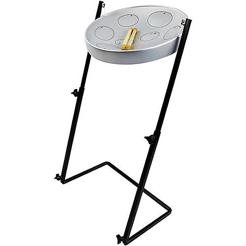 Panyard Jumbie Jam Steel Drum Kit with Metal Z-Floor Stand Silver