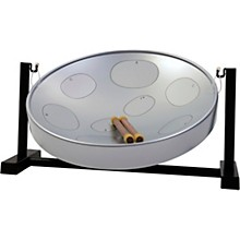 Jumbie Jam Steel Drum Kit with Table Top Stand Silver