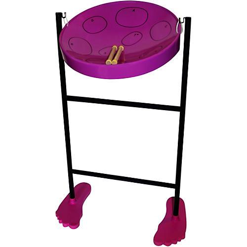 Panyard Jumbie Jam Steel Drum Kit with Tube Floor Stand Purple