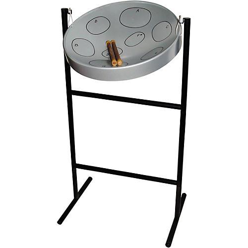 Panyard Jumbie Jam Steel Drum Kit with Tube Floor Stand Silver