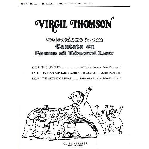 G. Schirmer Jumblies W/soprano Solo & Piano Accompaniment SATB composed by Virgil Thomson