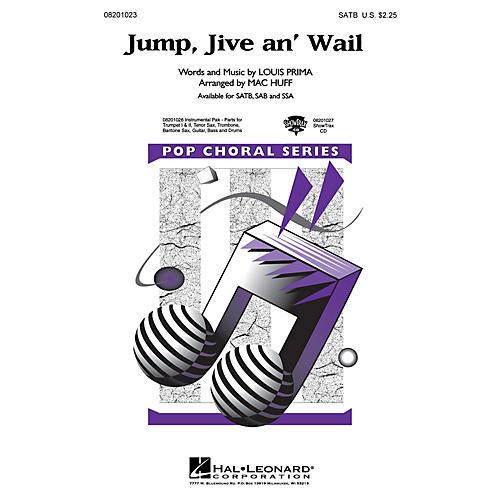 Hal Leonard Jump, Jive an' Wail SAB by The Brian Setzer Orchestra Arranged by Mac Huff