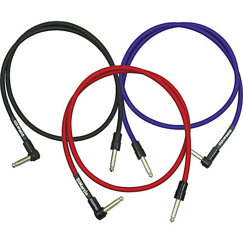 DiMarzio Jumper Cable Pedal Coupler Long Cable with 1 Straight and 1 Angled End