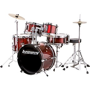 ludwig junior outfit drum set musician 39 s friend. Black Bedroom Furniture Sets. Home Design Ideas