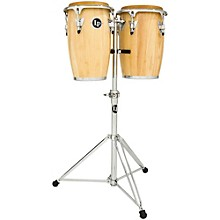 LP Junior Wood Congas with Chrome Hardware and Stand
