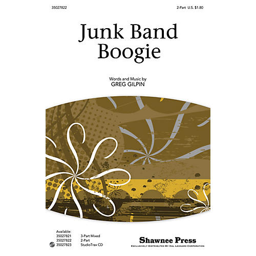 Shawnee Press Junk Band Boogie 2-Part composed by Greg Gilpin