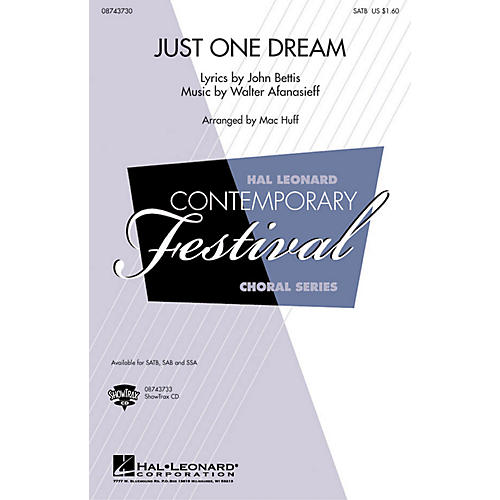 Hal Leonard Just One Dream ShowTrax CD by Heather Headley Arranged by Mac Huff