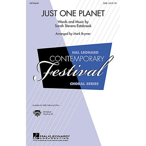 Hal Leonard Just One Planet 2-Part Arranged by Mark Brymer