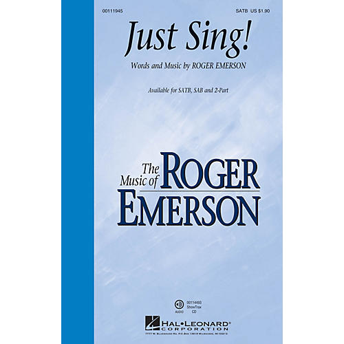 Hal Leonard Just Sing! 2-Part Composed by Roger Emerson