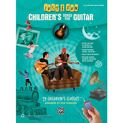 Alfred Just for Fun Children's Songs for Guitar Easy Guitar TAB Book